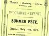 Fete Programme 1921