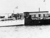 Hulk Huggeia and motor launch Joseph White moored c1930. Medical Officers and Sanitary Staff were based here and removed sick people off ships if necessary.