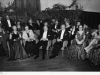 1951. Dartford Hospital Management Committee group ball at Crayford Town Hall. Mr Parry Chairman in centre, Dr Henderson Southern Hospital, Matron Bignall