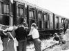 1959, July. Southfleet Station, Exercise Orange, an emergency training exercise. Holding the stretcher Thomas Crowhurst
