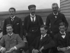 Dr Ricketts (middle front) Medical Superintendent and medical officers on board Atlas. c.1902