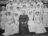 Matron Thorpe and staff. Joyce Green c.1920