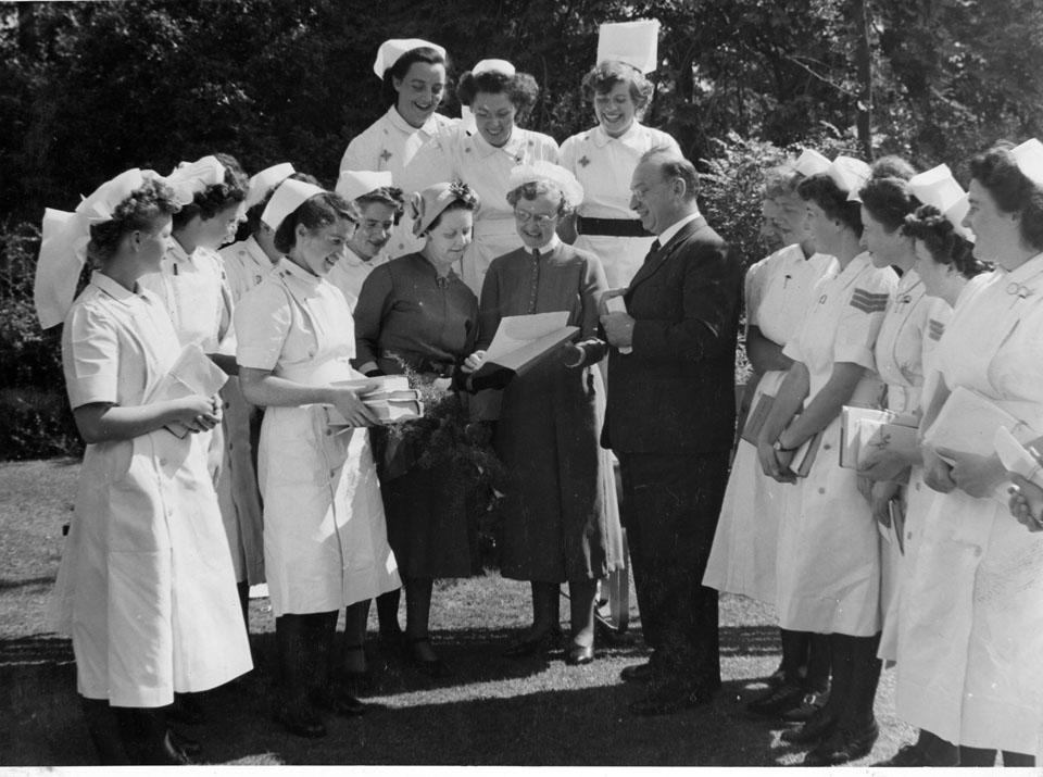 Nursing staff at Trans Allegheny Asylum   New hospital