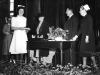 1949. West Hill. Miss High (Nurse Tutor), unknown, unknown, Dr Cochrane, Matron Foskett.
