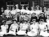 1958. Joyce Green Hospital. Seated Mr Kekwick, unknown, Dr Marsden, unknown, Matron Couzins, Miss Bingham (Nurse Tutor)