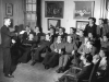 A talk on resettlement prior to discharge of patinets by Mr Lacey, Naval Schoolmaster. 1945.