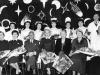 The Nurses Prizegiving. 1958. Dr Henderson sitting next to Matron Thomas. Seated far right Mr Walker Nurse Tutor.
