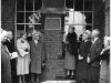 Unveiling of the plaque, 1955. Miss Schroeder, Dr Henderson, Matron Thomas, Mrs Stewart Bradstreet (former base 37 Nurse), Dr Fox (base 37 doctor), Mrs Fox, Mr Parry.