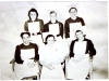 Midwifery Staff 1948. Back L-R Nurses Watson, Seward, Barham. Front L-R Nurses Fowler, Long and Gantry